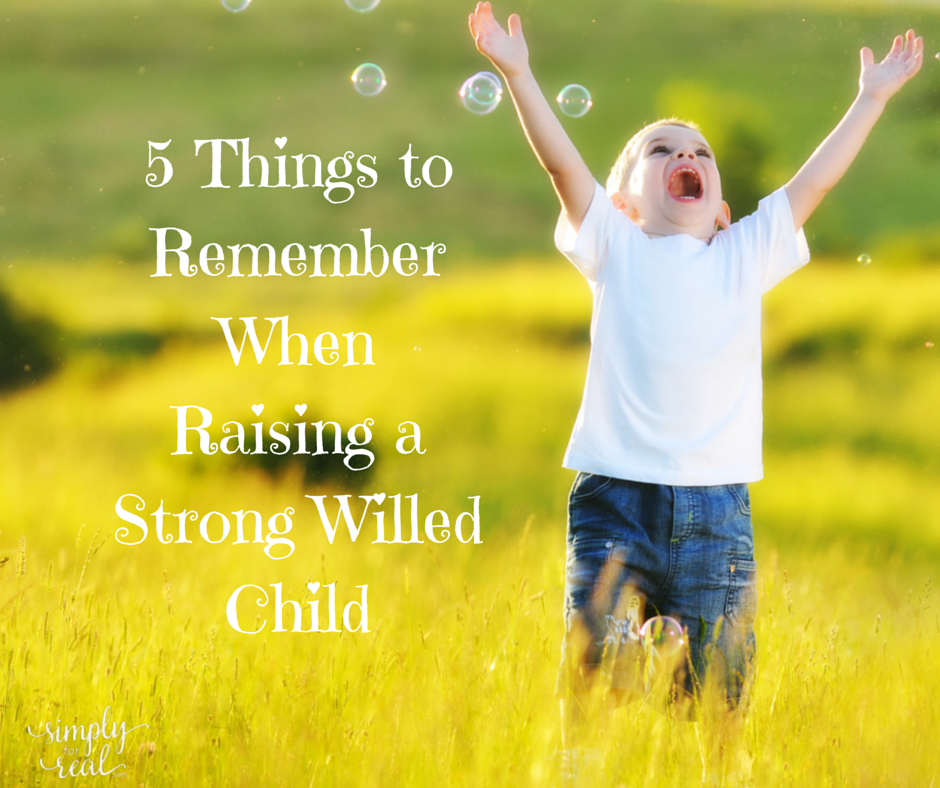 5 Things To Remember When Raising a Strong Willed Child