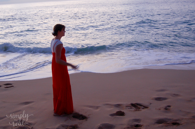 walking on the beach-413
