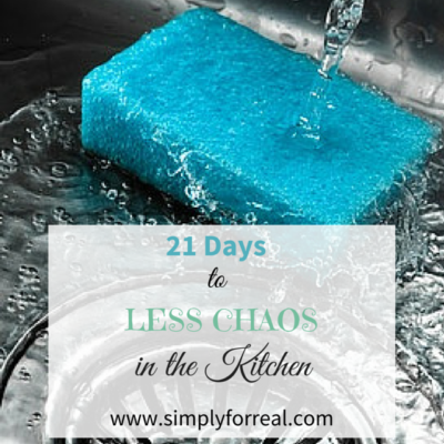 21 Days to Less Chaos, Round 2…The Kitchen Sink