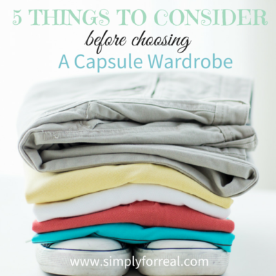 5 Things to Consider Before Choosing a Capsule Wardrobe