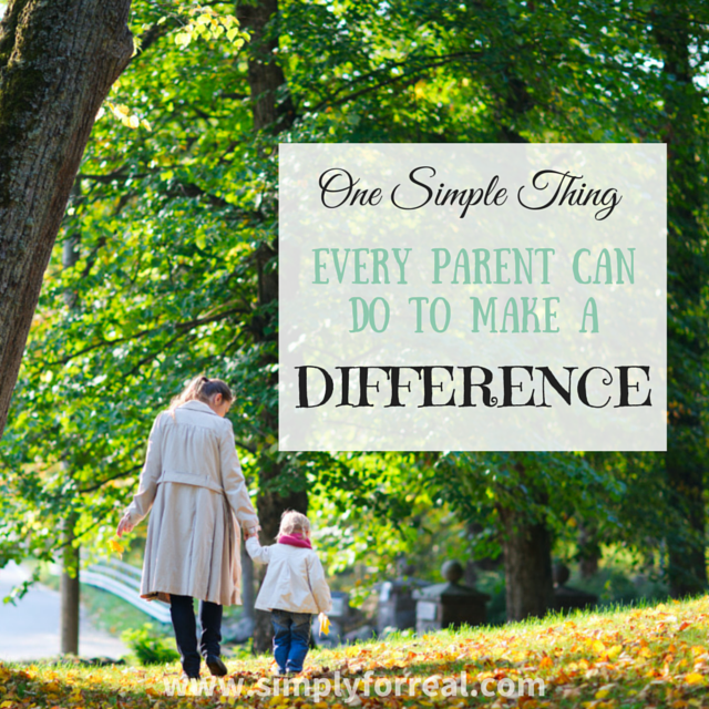 One Simple Thing every parent can do square