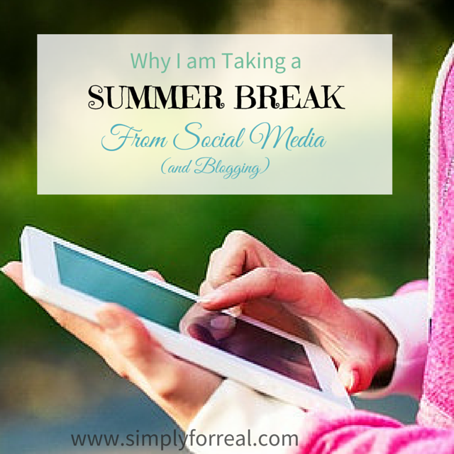 Why I am Taking a summer break square