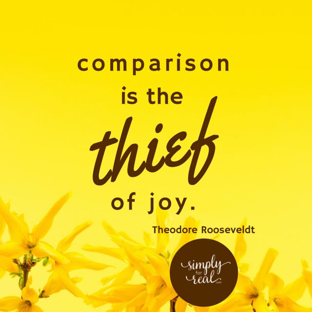 comparison is thief