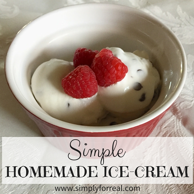 Simple homemade ice cream