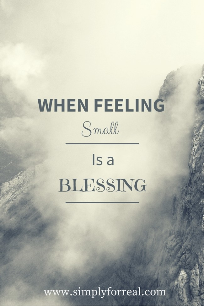 small is a blessing