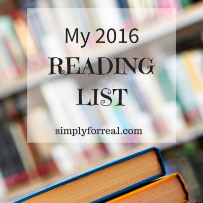 My 2016 Reading List