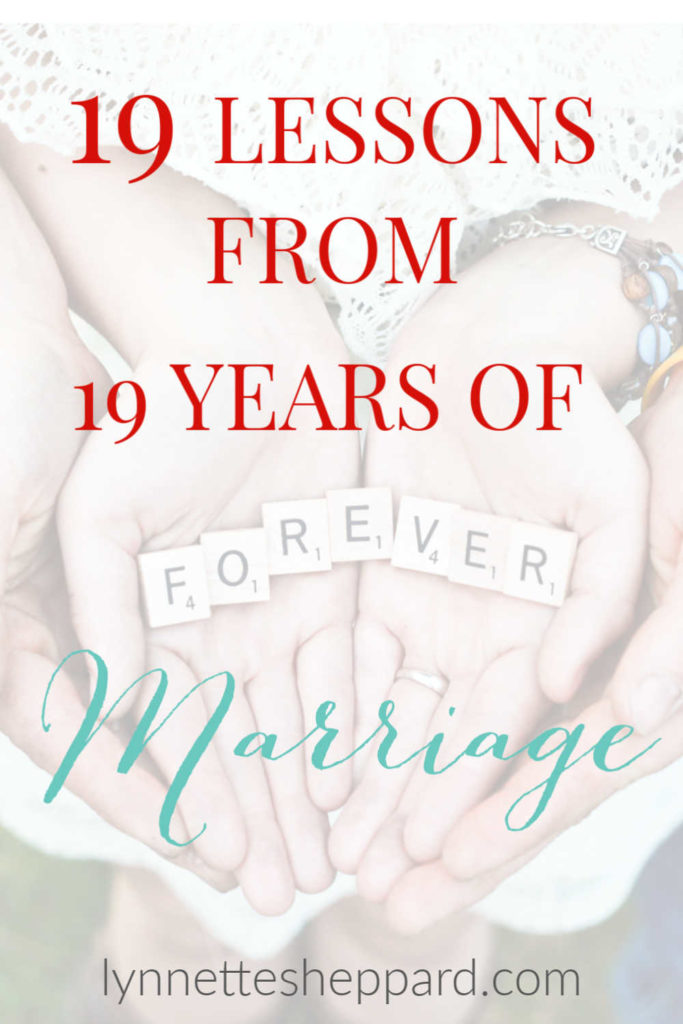19 lessons from 19 years of marriage