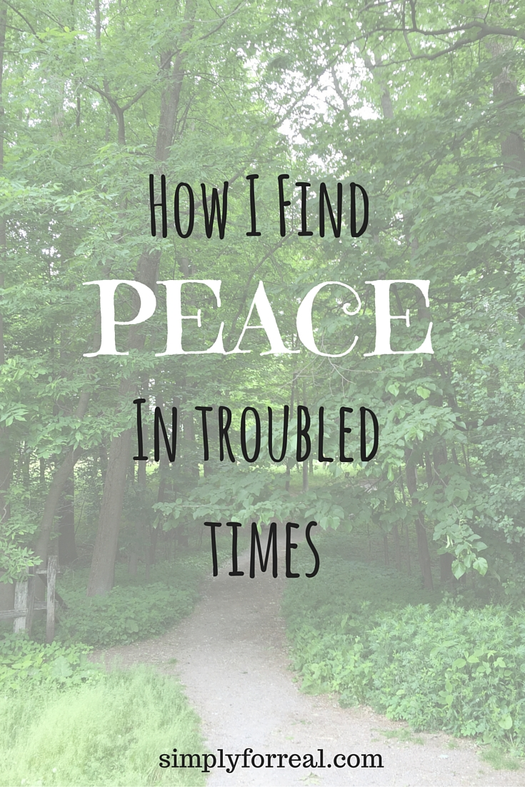 Peace in trouble times