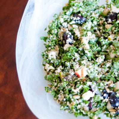 Kale and Quinoa Salad with Creamy Apple Dressing