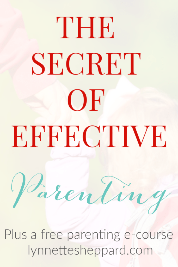 The secret to effective parenting is really quite simple. It all comes back to mindset.