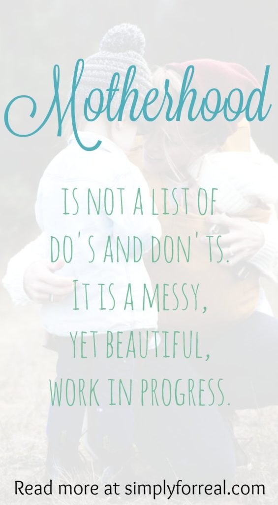 Messy. Raw. Vulnerable. Beautifully imperfect. That is what motherhood really is.