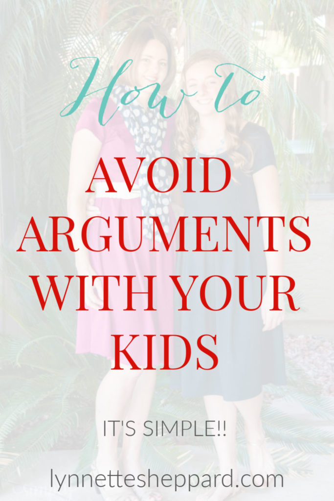 How to avoid arguments with your kids