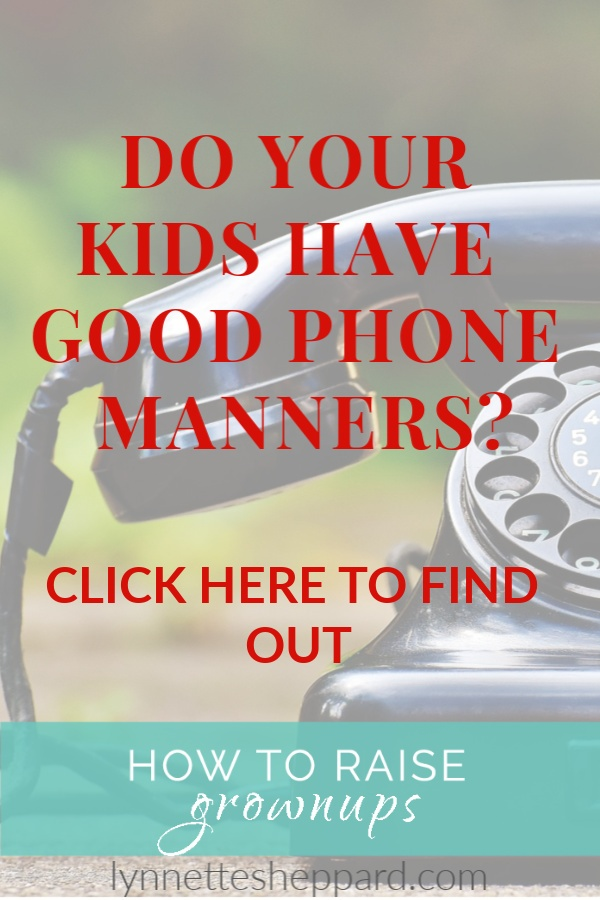 The lost are of telephone etiquette