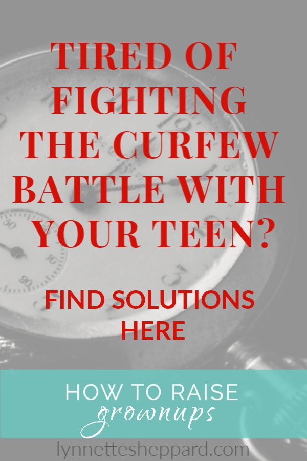 Tired of fighting the curfew battle with your teen?